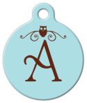 image: Owl Monogram A-Z Pet ID Tag