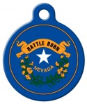 image: Nevada Flag Custom Dog Tag