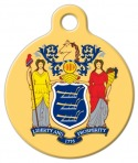 image: New Jersey Dog Collar Tag