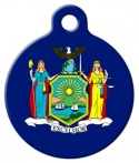 image: New York Flag Custom Pet Tag