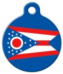 image: Ohio Flag Dog ID Tag