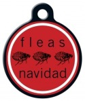 image: Fleas Navidad Dog ID Tag