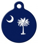 image: South Carolina Flag Pet ID Tag