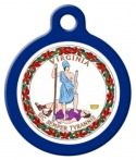 image: Virginia Flag Dog ID Tag