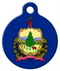 image: Vermont Flag Pet ID Tag