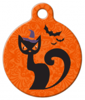 Witchy Cat ID Tag