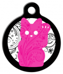image: Pink Kitty Cat ID Tag