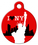image: I Love New York Dog Collar Tag