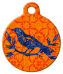 Indian Bird Batik Pet ID Tag
