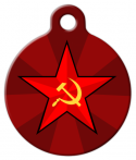 Russian Star Pet ID Tag