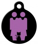 image: Two Mommies and a Cat Identity Tag