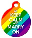 image: Keep Calm and Marry On Pet ID Tag