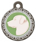 image: Faux Cameo Pendant Dog Tag