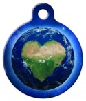 image: Love the Earth Pet Name Tag