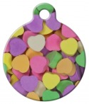 image: Candy Hearts Custom Collar Tag