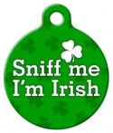 image: Sniff Me I&#039;m Irish ID tag for Pets