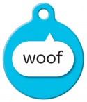 image: Blue Woof ID Tag for Dogs