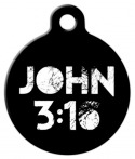 image: John 3:16 Custom Pet Tag