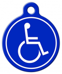 Handicapped Symbol Pet ID Tag