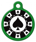 image: Poker Chip Pet Collar Tag