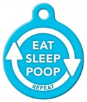 image: Blue Eat, Sleep, Poop - Repeat Dog or Cat ID Tag
