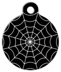 image: Spider Web Dog or Cat ID Tag