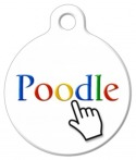image: Poodle Search Dog Collar Tag