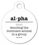 Alpha Word Definition Dog Name Tag