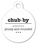 image: Chubby Word Definiton Pet Identity Tag