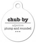 Chubby Word Definiton Pet Identity Tag