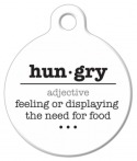 image: Hungry Word Definition Pet Collar Tag