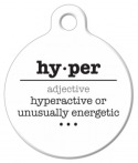 image: Hyper Word Definition Pet Name Tag