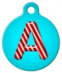 image: Peppermint Monogram A-Z Pet ID Tag