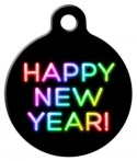 image: Neon New Year Custom ID Tag
