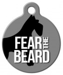 image: Fear the Beard Pet ID Tag