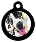 Image: The Happy Harlequin Dog ID Tag