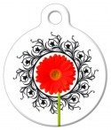 Gerber Flower Pet ID Tag