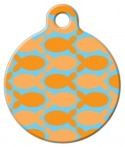 image: Orange Fish on Blue Custom ID for Cats