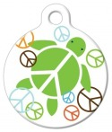 image: Peace Turtle Pet ID Tag