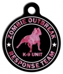 image: Zombie Response K9 Camo Pink ID Tag