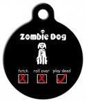 image: Zombie Check List Dog ID Tag
