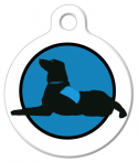 image: Therapy Dog Custom ID Tag