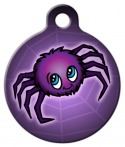 Spooky Spider Pet ID Tag