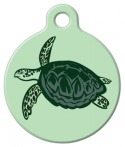 image: Sea Turtle Print Dog or Cat ID Tag