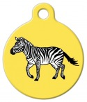 image: Zebra on the Move Pet Collar ID Tag