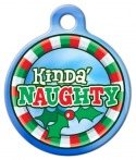 image: Kinda' Naughty Pet Collar ID Tag