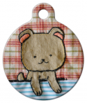 image: Lovely Appliqu Pup Pet Collar Tag