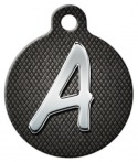 image: Chrome Monogram A-Z Pet ID Tag