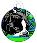 image: Pensive Boy Custom Pet Tag