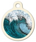 Surfin' Wave Pet Name Tag